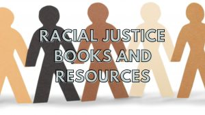 image of paper doll cutouts of men with different color skintone shades Racial Justice Books & Resources